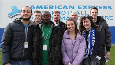 Students take a tour of Albion's training ground