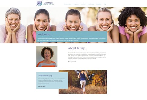 Women Exercise for Life website screen grab