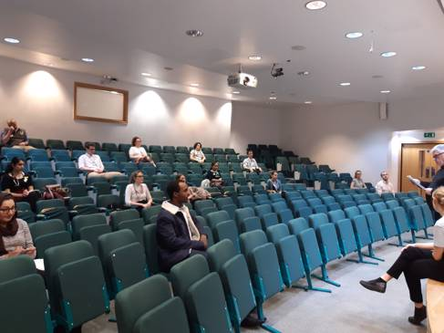 Students in the BSMS lecture theatre