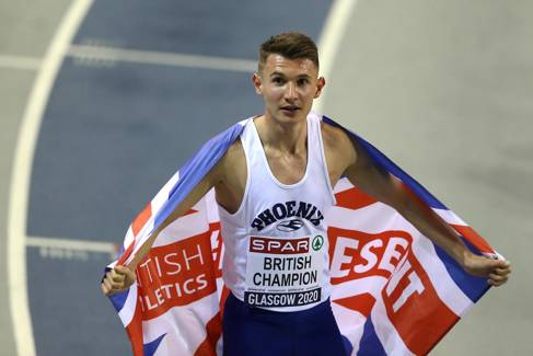 George Mills with Union flag credit British Athletics - Getty Images