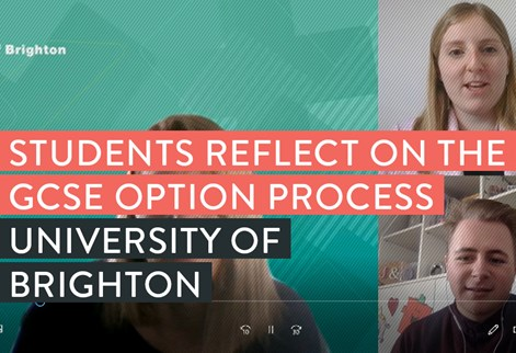 Video of students discussing GCSE options