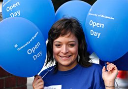 Open days with balloons