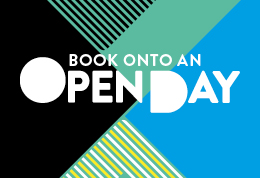 Book onto an open day (graphic)