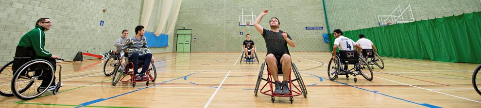 Wheelchair basketball match